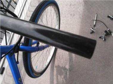 自転車のブレーキ交換。ハンドルバー。