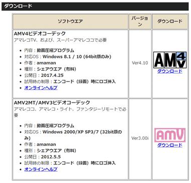 AMV2MT/AMV3 ビデオコーデックは無料ですか? - …