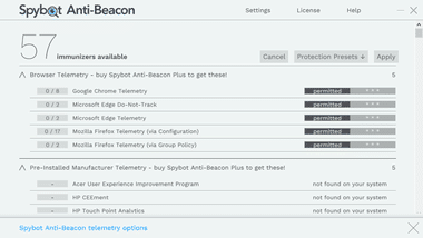 Spybot Anti-Beacon free version 042