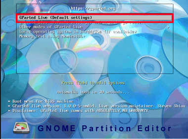 GParted Free Partition Manager 004