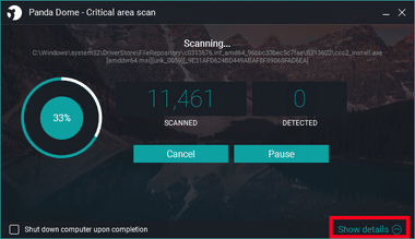 Panda Dome free antivirus 055
