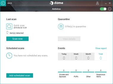 Panda Dome free antivirus 057